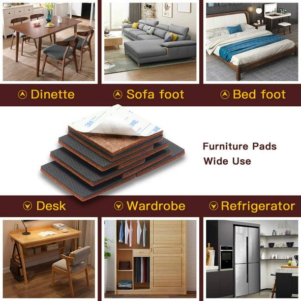 Non Slip Furniture Pads 12 Pcs Square