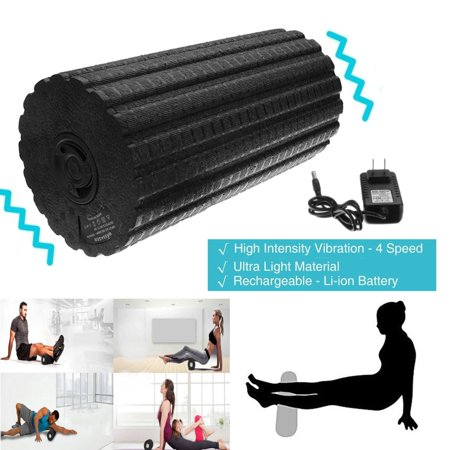4 Speed Yoga Column Vibrating Muscle Recovery Massage Foam Roller Fitness Deep Tissue Intensity Pain For Relax