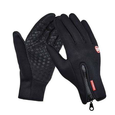 (Camping Outdoor Winter Men Women Windstopper Waterproof Zipper Skiing Riding Climbing Hiking Screen Touchable Gloves)