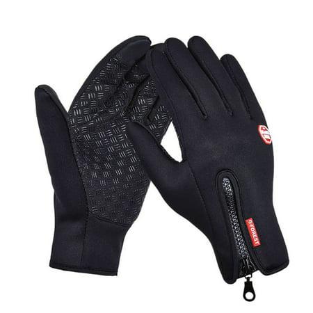 (SunshineLLC Camping Outdoor Winter Men Women Windstopper Waterproof Zipper Skiing Riding Climbing Hiking Screen Touchable Gloves)