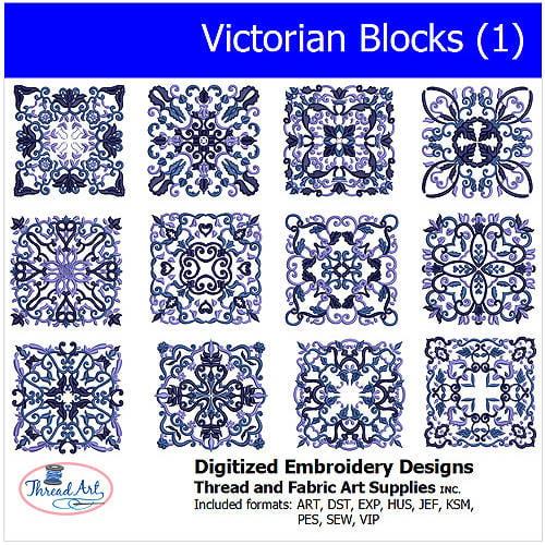 Threadart Machine Embroidery Designs Victorian Blocks(1) CD