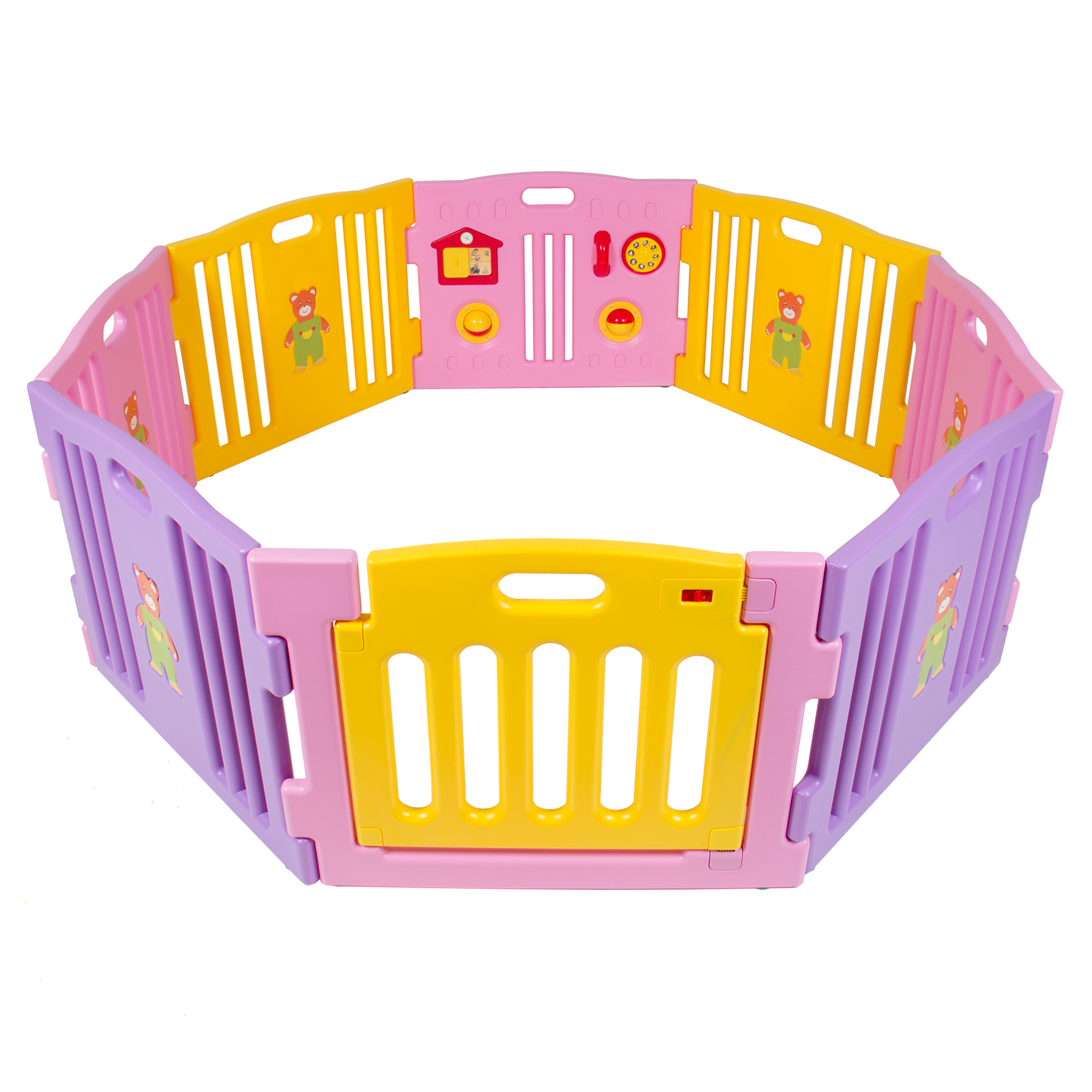 Lovely Best Choice Products Baby Playpen Kids 8 Panel Safety Play Center Yard Home  Indoor Outdoor Girls