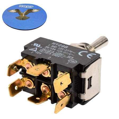 HQRP Momentary Toggle Switch for HY29B Flagstaff Tent Trailer, 86 Ranger Bass Boat Rear Trim, Snow Blower, Boat Lift Up-Down Off Control 30-050 + HQRP Coaster ()