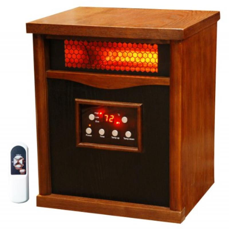 Lifesmart 6 Element Large Room Infrared Quartz Heater w/W...