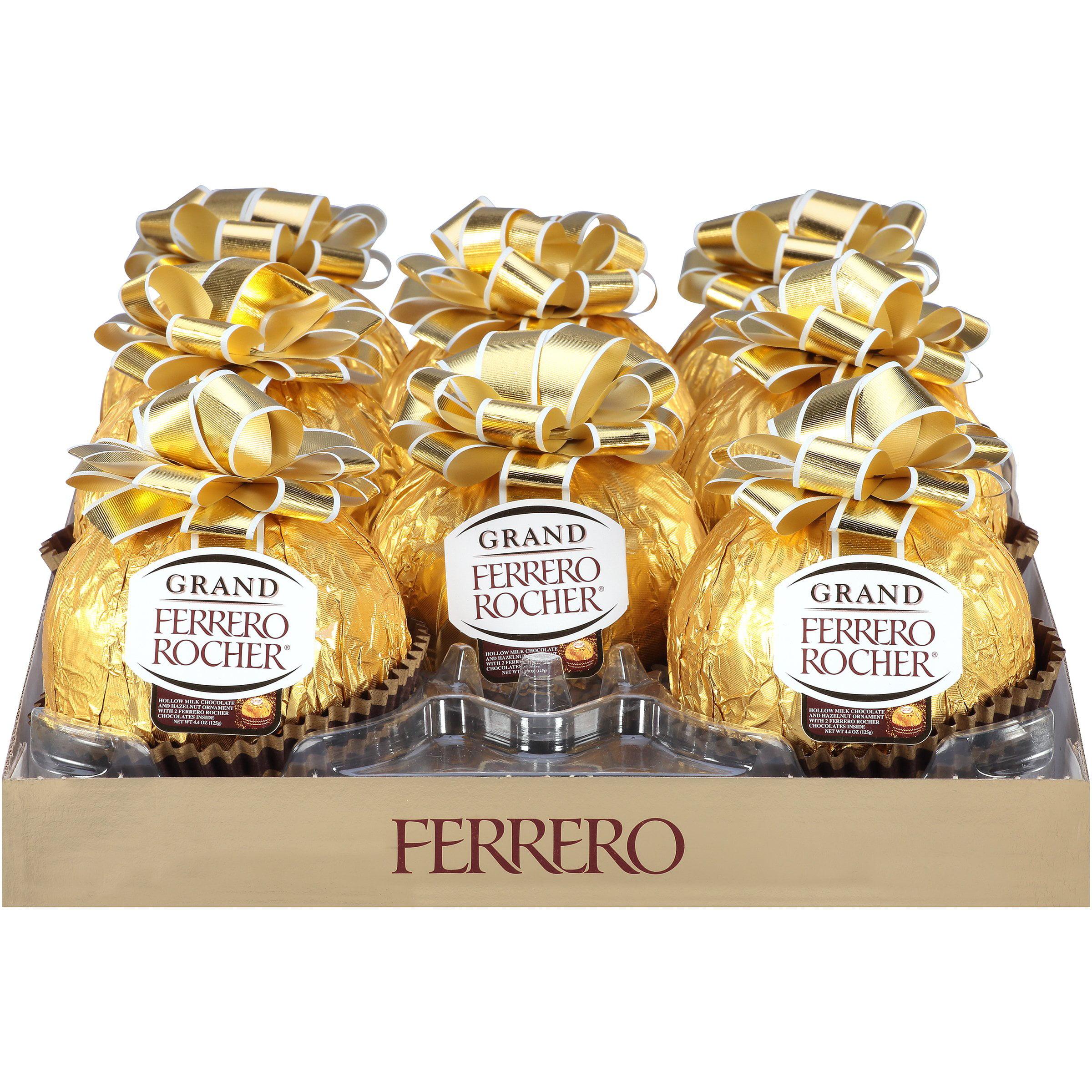 Grand Ferrero Rocher® Milk Chocolate and Hazelnut Ornament 4.4 oz ...