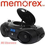 Memorex Portable Sport Boombox MP3851 CD Player with AM_FM Radio with Digital Display + Aux_in Input with Headphone (Memorex Cd Radio Player)