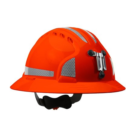 280-EV6161MCR2-OR Evolution Deluxe 6161 Full Brim Mining Hard Hat with CR2 Reflective Kit, 6-Point suspension system with polyester textile straps offers.., By - Mining Hard Hats