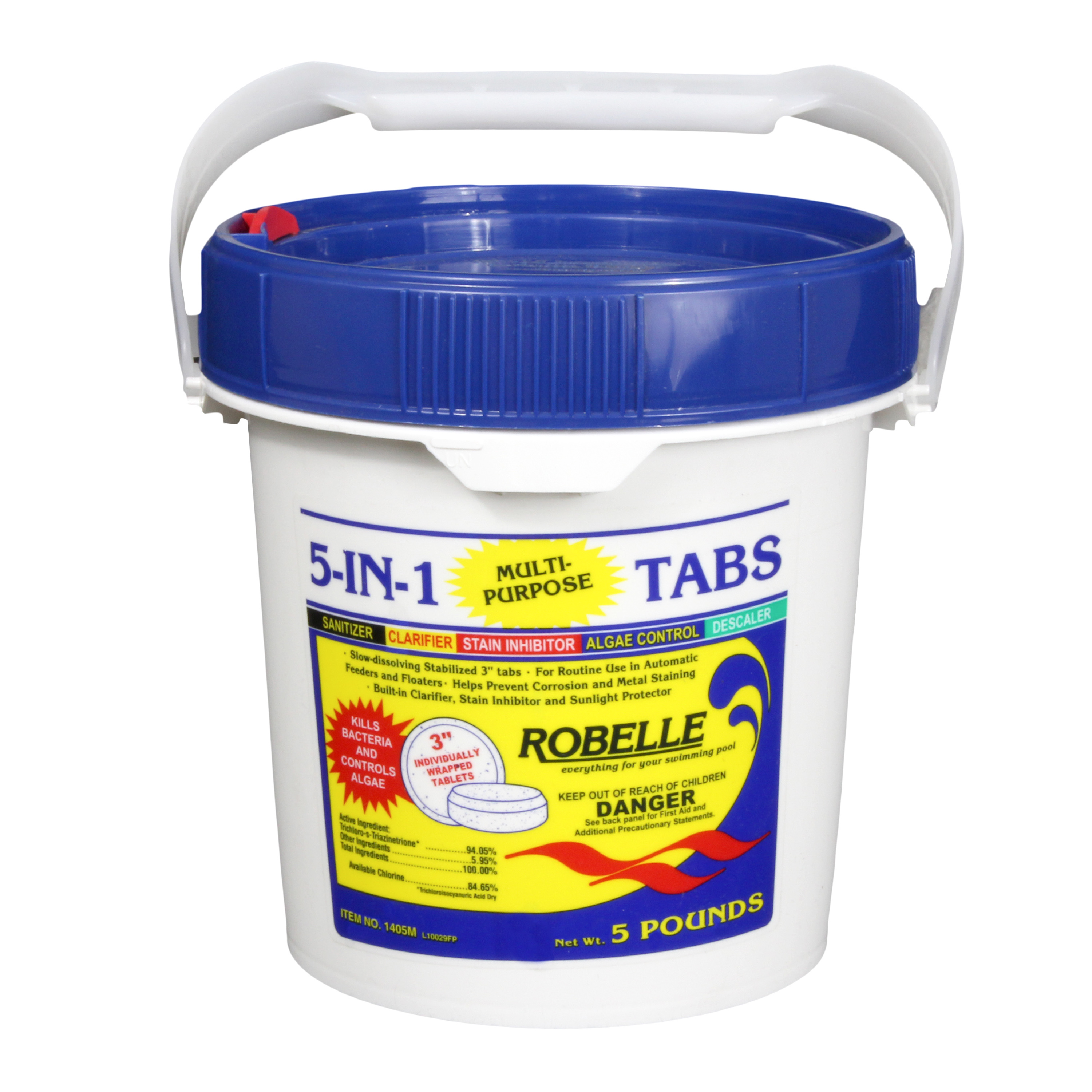 "Robelle 5-In-1 Swimming Pool Multi-Purpose 3"" Chlorinating Tabs"