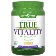 True Vitality Plant Protein Shake with DHA-Vanilla Green Foods 25.2 oz Powder