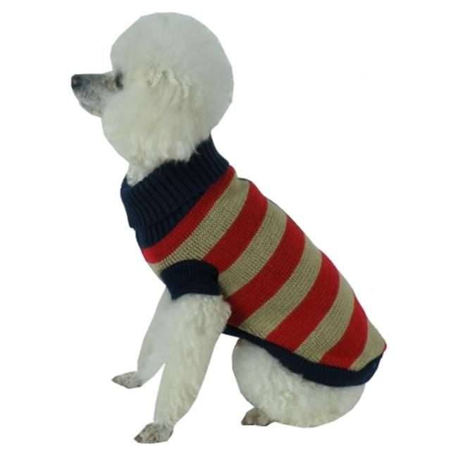 Pet Life SW8AMXS Patriot Independence Star Heavy Knit Turtle Neck Dog Sweater, Extra Small - image 1 de 1