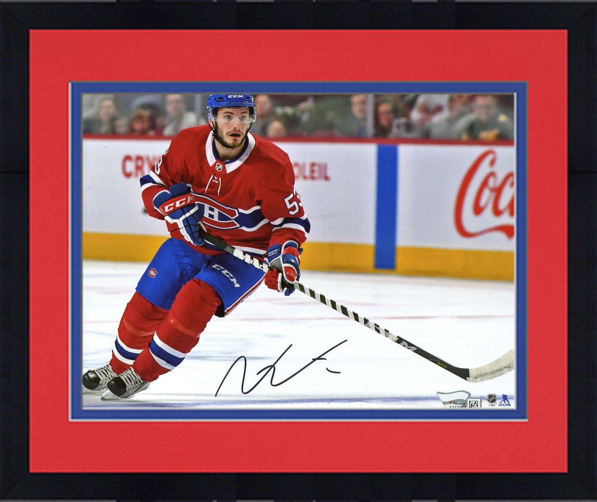 "Framed Victor Mete Montreal Canadiens Autographed 8"" x 10"" Red Jersey Skating Photograph Fanatics Authentic... by Fanatics Authentic"