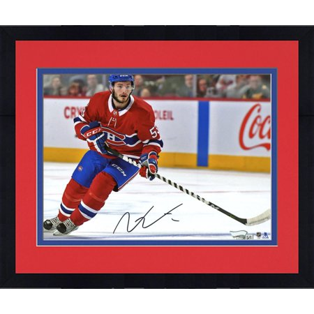 Framed Victor Mete Montreal Canadiens Autographed 8   X 10   Red Jersey Skating Photograph   Fanatics Authentic Certified