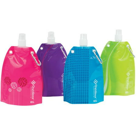 Foldable Water Bottle >> Outdoor Products Foldable Water Bottle 1 Liter Walmart Com