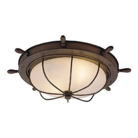 separation shoes 065ce fe963 Vaxcel Orleans Nautical Outdoor Ceiling Light - 15W in. Antique Red Copper