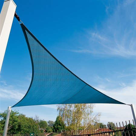 Coolaroo Coolhaven Shade Sail With Hardware; 18' Tri; Sapphire