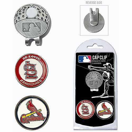 Team Golf MLB St Louis Cardinals Cap Clip With 2 Golf Ball Markers