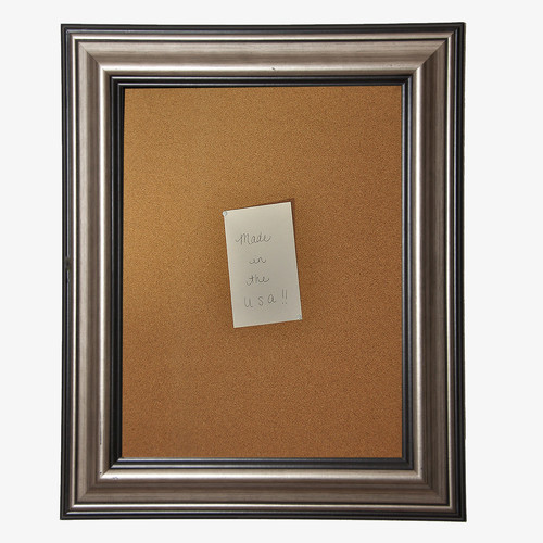 Rayne Mirrors American Made Rayne Antique Silver Corkboard