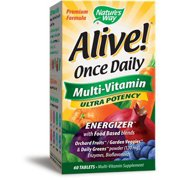 Alive Once Daily Multi Vitamin Ultra Potency Nature's Way 60 Tabs