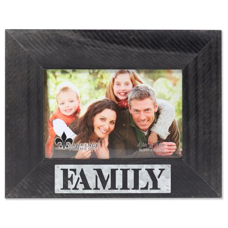 4x6 Harper Wood Picture Frame with Galvanized Metal Piercing - Family