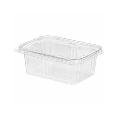 Case pack of 200 8 High Dome Clear Plastic Hinged Pie Container by Inline Plastics #CPC-118
