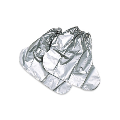"North(R) One Size Fits All Silver 15"" Silver Shield(R) 2.7 mil Chemical Protection Booties With Elastic Top"