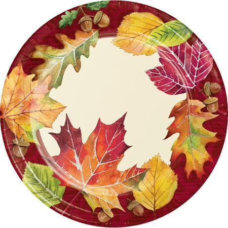 Fall Leaves Dessert Plates, 24 - Fall Plates