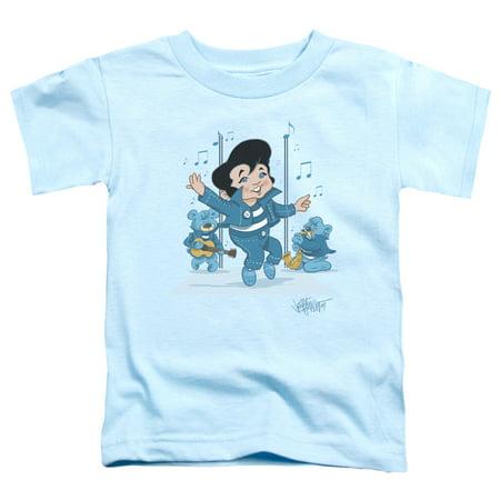 Trevco ELVIS PRESLEY JAILHOUSE ROCKER Light Blue Toddler Unisex T-Shirt
