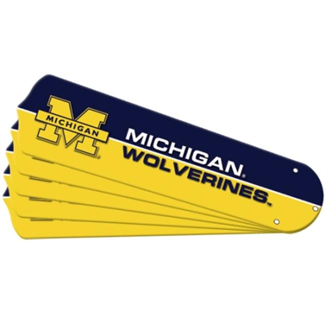 Ceiling Fan Designers 7992-MIC New NCAA MICHIGAN WOLVERINES 42 in. Ceiling Fan Blade Set