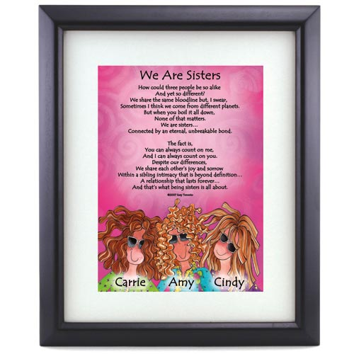 Personalized 'We Are Sisters' Print