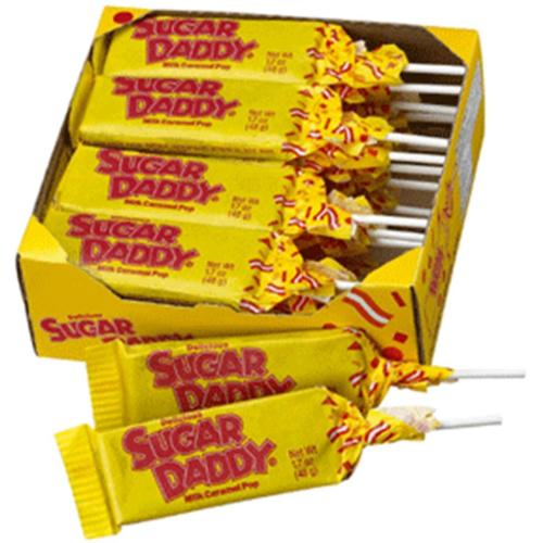 Charms Sugar Daddy Milk Caramel LolliPops [case of 24] (Pack of 6)