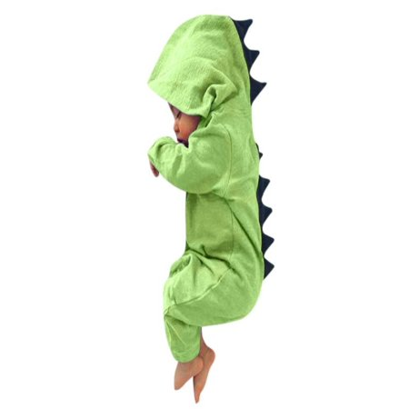 9e3fbd572 Outtop Newborn Infant Baby Boy Girl Dinosaur Hooded Romper Jumpsuit Outfits  Clothes - Walmart.com
