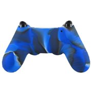 Soft Camouflage Silicone Case Cover For Playstation PS4 Controller BU