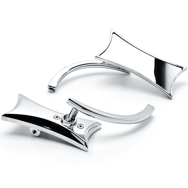 Chrome Twisted Motorcycle Mirrors Bolt Adapters For Harley Davidson Road Glide Custom Ultra - image 3 de 3