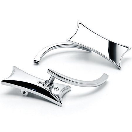 Chrome Twisted Motorcycle Mirrors Bolt Adapters For Harley Davidson Street Glide - image 3 of 3