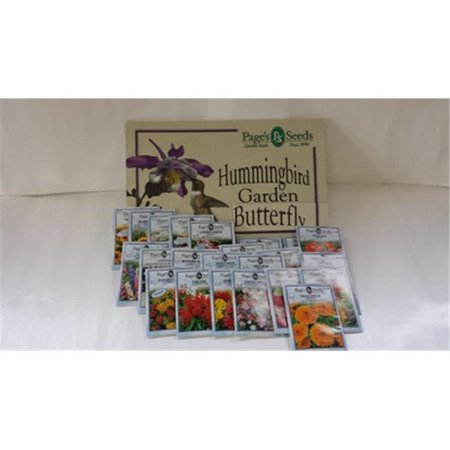 Image of Pages Premium 02BH25PACK Butterfly & Hummingbird 25 Pack Garden Seeds
