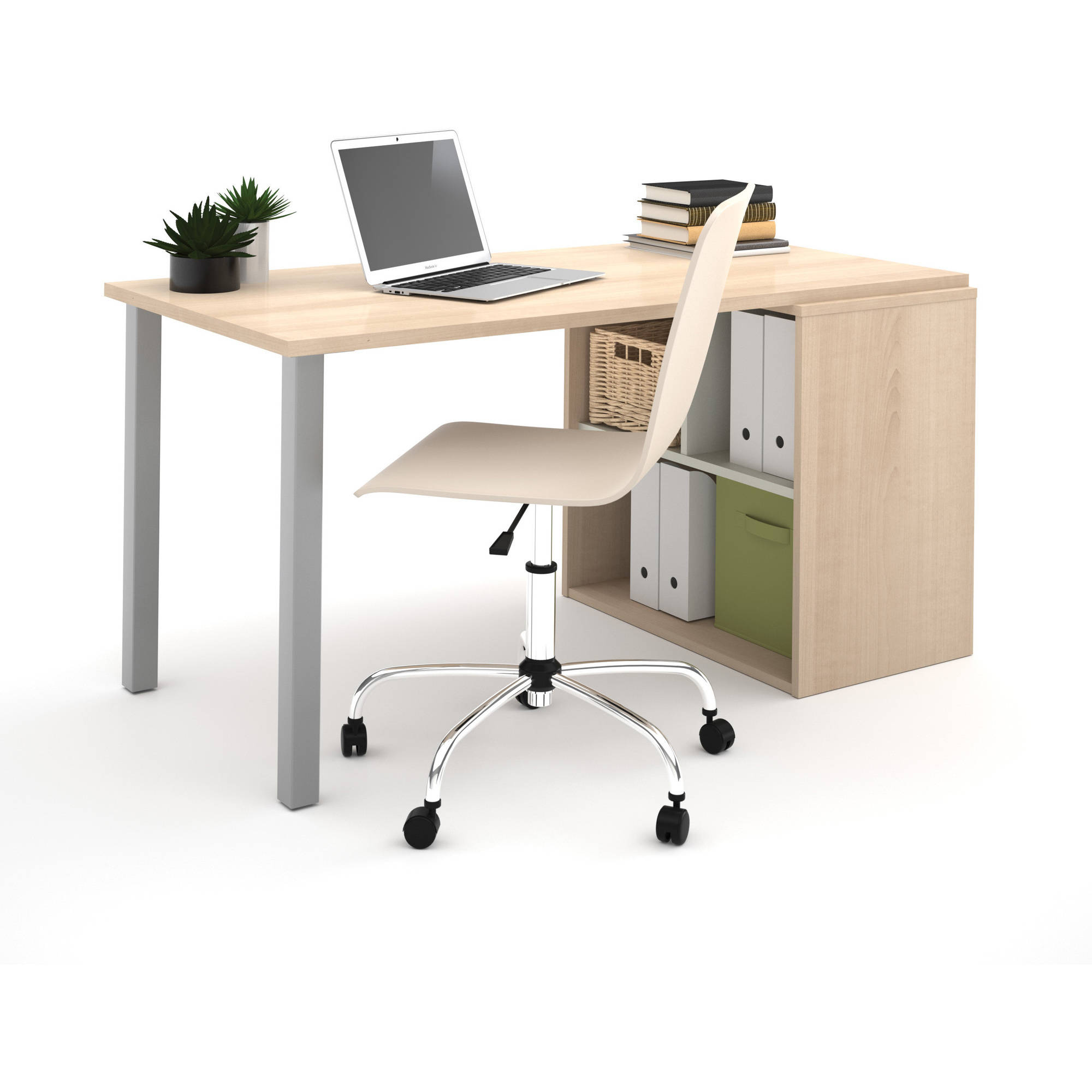 Bestar i3 by Bestar Workstation, Northern Maple and Sandstone