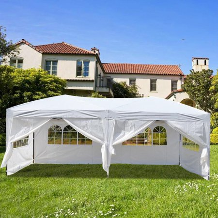 Ktaxon 10x20 EZ Pop UP Wedding Party Tent Folding Canopy Heavy Duty 6 Wallsides