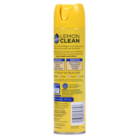 Pledge Lemon Clean Furniture Spray 9 7 Ounces Best