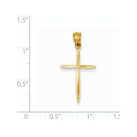 14k Croix jaune or jaune (14x24mm) Pendentif / Breloque - image 1 de 2