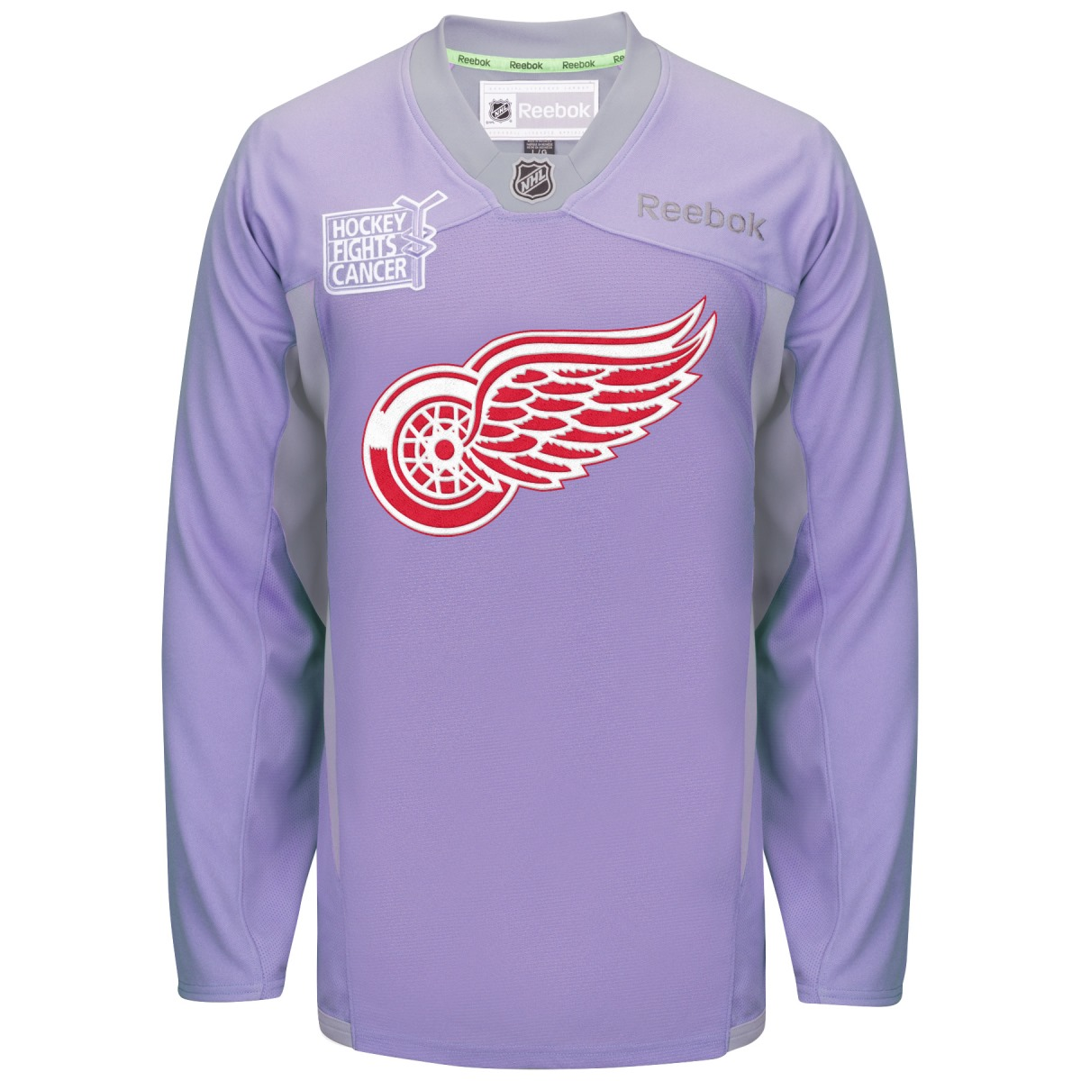 Detroit Red Wings Reebok NHL Hockey Fights Cancer Practic...