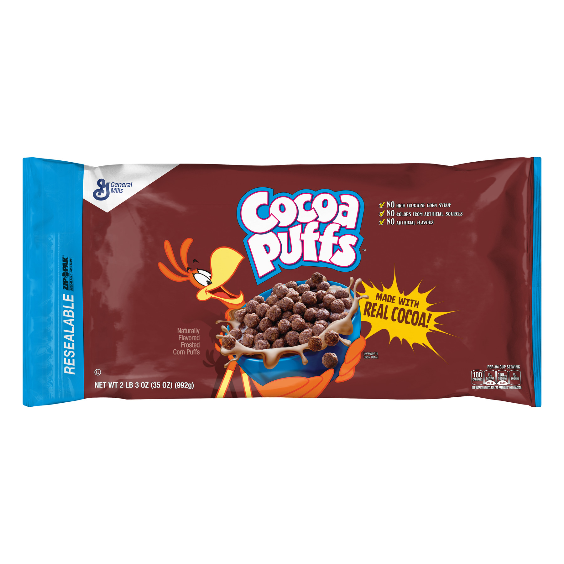 (2 Pack) Cocoa Puffs Cereal, Chocolate, 35 Oz Bag