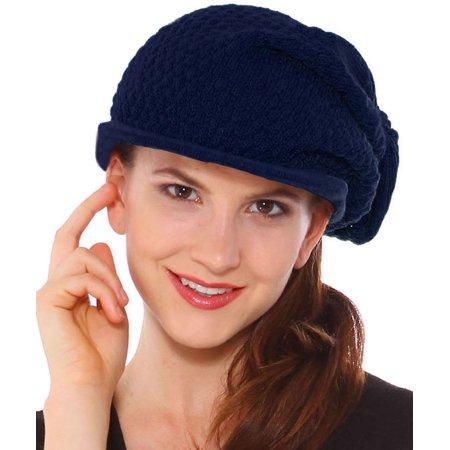 Simplicity - Simplicity Women s Rasta Dreadlocks Knit Hat Slouchy Beanie  Cap with Brim cdd36c159d2