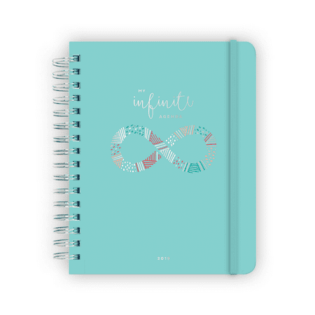 My Infinite Agenda 2019 Daily/Monthly Planner, Teal - Cheap Planners