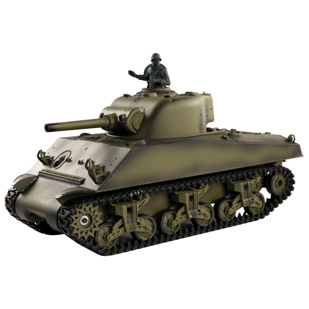 1:16 2.4G US M4A3 Sherman RC Tank w/ Smoke & Sound Radio ...