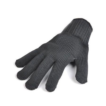 A Pair Black Anti Cutting Gloves Stainless Steel Wire Cut Resistant Safety Breathable Protective Metal Mesh Work Glove for Cutting and Slicing Black - image 2 de 7