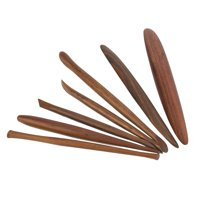 EOTVIA Clay Sculpturing Tool, Pottery Tool,7pcs Wooden Art Pottery Sculpture Tools Set Clay Sculpting Carving Modeling Tool