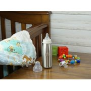 Parent's Choice 9 Ounce Stainless Steel Single Wall Baby Bottle