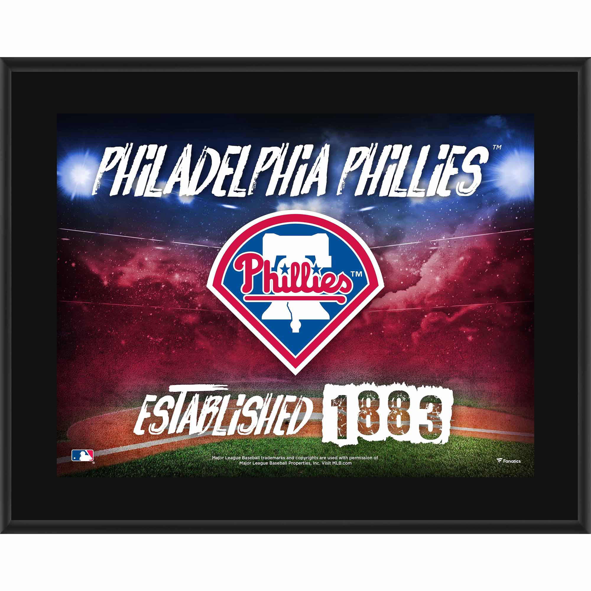 "Philadelphia Phillies Fanatics Authentic 10.5"" x 13"" Sublimated Horizontal Team Logo Plaque - No Size"