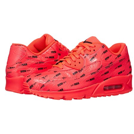 81818c96eac8b Nike Air Max 90 Premium Men's Low Top Athletic Sneakers Red 700155-604