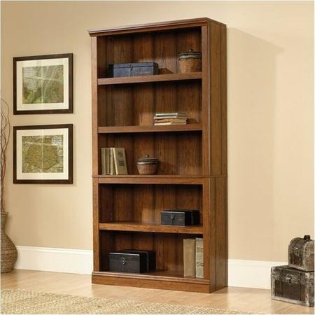 Cherry Traditional Bookcase - Bowery Hill 5 Shelf Bookcase in Washington Cherry